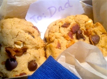 Father's Day Peanut Butter Chocolate Chip Bacon Cookies Recipe Food Gift