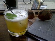 Rye Bar New York City Jalepeno Infused Bourbon Lemon Honey Cinnomon Mint Wake Up Call