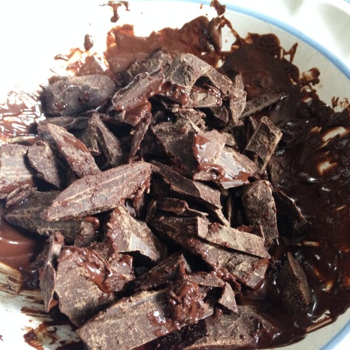 Chopped Melted Chocolate for Toffee Recipe