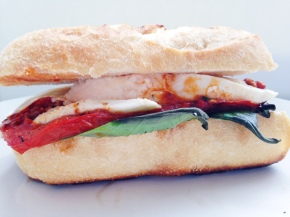 How to Make Mozzarella Sandwich Easy Recipe Roasted Tomato Red Pepper Tapenade Fresh Basil