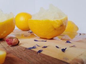 Healthy Lemon Rose Granita Dessert Recipe